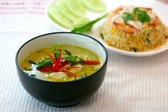 Groene varkensvleesKerrie, Thaise keuken stock afbeelding