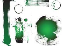 Groene Vector Grunge Stock Afbeeldingen