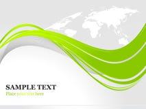 Groene vectorachtergrond Stock Afbeelding