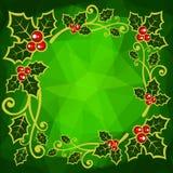 Groene veelhoekige achtergrond Stock Afbeelding