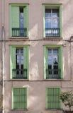 Groene vensters royalty-vrije stock foto's