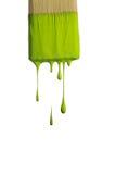 Groene Verf die van een borstel druipt royalty-vrije stock foto