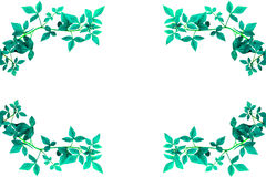Groene verlofrand Stock Foto