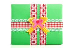 Groene verpakte gift Royalty-vrije Stock Afbeelding