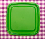 Groene vierkante plastic dekking Royalty-vrije Stock Fotografie