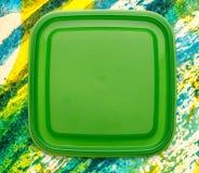 Groene vierkante plastic dekking Royalty-vrije Stock Foto's