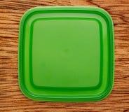 Groene vierkante plastic dekking Stock Foto's