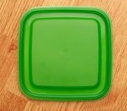 Groene vierkante plastic dekking Stock Afbeeldingen
