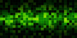 Groene vierkanten Stock Foto's