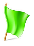 Groene vlag Stock Foto