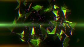 Groene Vlecht Abstracte Lijnen & Driehoeken Intro Logo Background stock illustratie