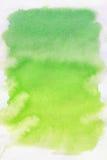 Groene vlek, waterverf abstracte achtergrond Stock Afbeeldingen