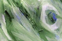 Groene vlekken op het document Vlekken op papier royalty-vrije stock afbeelding