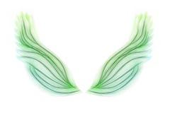 Groene vleugels Royalty-vrije Stock Foto's