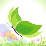 Groene Vlinder - sparen onze planeet Stock Fotografie