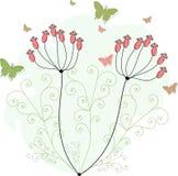 Groene vlinders voor groetkaarten Stock Afbeelding