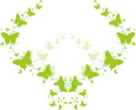 Groene vlinders voor groetkaarten Royalty-vrije Stock Fotografie