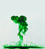 Groene Vloeibare Explosie Stock Fotografie