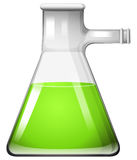 Groene vloeistof in glasbeker vector illustratie