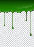 Groene vloeistof, plonsen en smudges Slijm vectorillustratie royalty-vrije illustratie