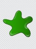 Groene vloeistof, plonsen en smudges Slijm vectorillustratie stock illustratie