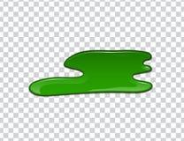 Groene vloeistof, plonsen en smudges Slijm vectorillustratie vector illustratie