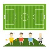 Groene voetbal field Royalty-vrije Stock Afbeelding