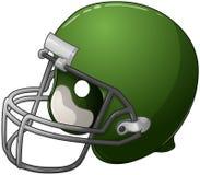 Groene Voetbalhelm Stock Afbeelding