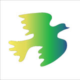Groene vogel op een witte achtergrond Royalty-vrije Stock Foto's