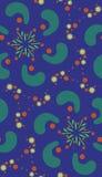 Groene Vormen over Blauw Patroon vector illustratie