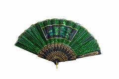 Groene vouwende ventilator Stock Afbeelding