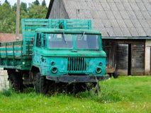 Groene Vrachtwagen stock foto