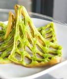 Groene wafel netto op plaat Royalty-vrije Stock Afbeelding