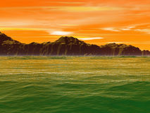 Groene waterachtergrond vector illustratie