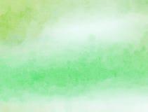 Groene Watercolour-Document Was stock foto