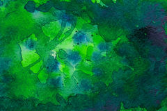 Groene waterverfachtergrond Royalty-vrije Stock Foto's