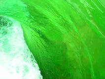 Groene waterwerveling Stock Foto's