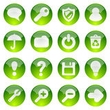 Groene Webpictogrammen royalty-vrije illustratie