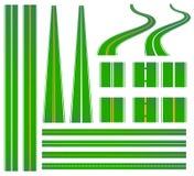 Groene weg stock illustratie
