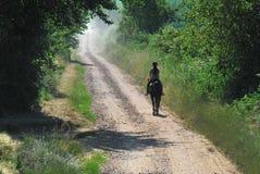 Groene weg aan hemel Royalty-vrije Stock Foto's