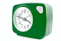 Groene wekker stock afbeeldingen