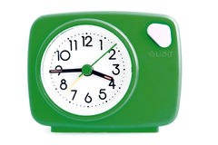 Groene wekker stock foto's