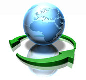 Groene wereld stock illustratie