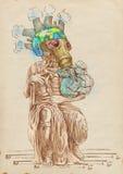 Groene wereld - Nieuwe Mozes stock illustratie