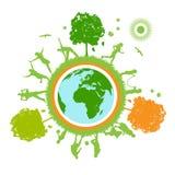 Groene wereld, planeet Stock Afbeelding