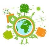 Groene wereld, planeet Stock Foto's