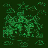 Groene wereldbol Stock Afbeeldingen