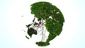 Groene wereldecologie stock footage