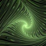 Groene wervelingen Abstracte multicolored illustratie op een donkere achtergrond royalty-vrije illustratie