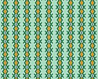 Groene wervelingen en gouden tintenachtergrond Royalty-vrije Stock Afbeeldingen